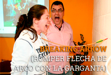 ROMPER FLECHA DE ARCO CON LA GARGANTA  coaching de alto impacto